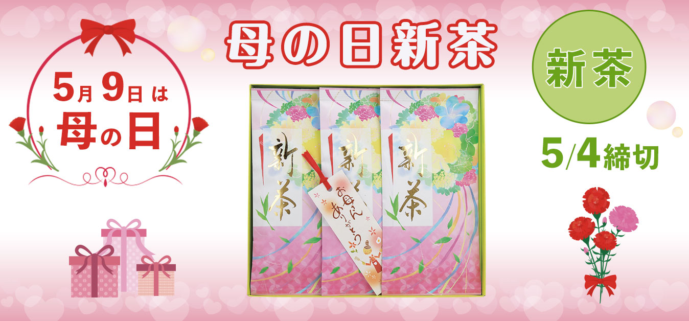2020年新茶 母の日のプレゼントに(静岡 牧之原)