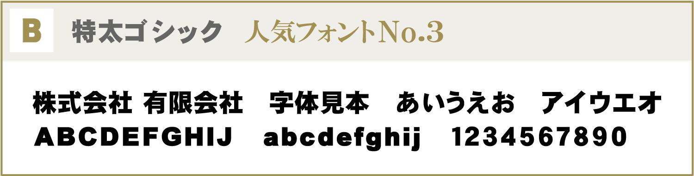 フォントB:特太ゴシック