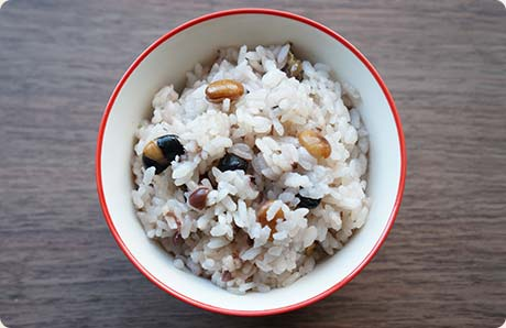 ごろごろ雑穀米 盛り付け例