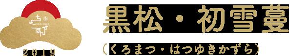 黒松・初雪蔓(くろまつ・はつゆきかずら)