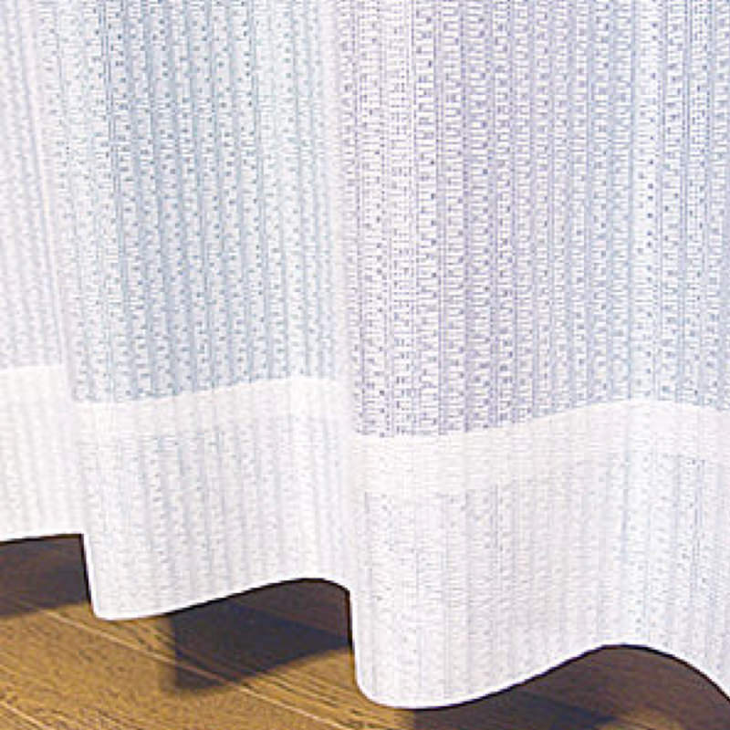 シンプルな防炎ミラーレースカーテン
