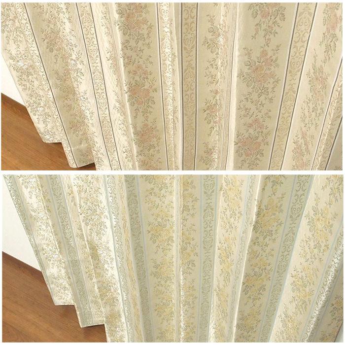 クラシカルな織り柄遮光カーテン