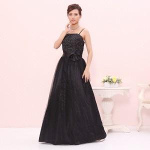 【大きめサイズ】初めての一着に♪ベーシック演奏会ドレス ブラック 黒 0219/ ラミューズドレス通販