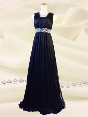 3wayのシンプルロングドレス 黒/ 0216 / 演奏会 ラミューズドレス通販