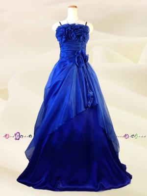 薔薇のカラードレス ロイヤルブルー 058/演奏会 ラミューズドレス通販