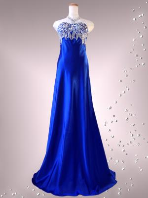 ラグジュアリーベアトップドレス ロイヤルブルー 0218/ 演奏会 ラミューズドレス通販