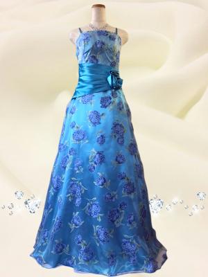 サロンドレス*紫陽花ブルー 048/演奏会・ラミューズドレス通販