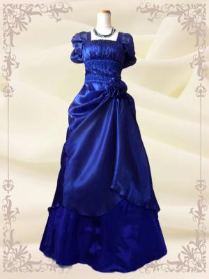 エリーゼドレス*ロイヤルブルー 袖付き 演奏会用ロングドレス 0202