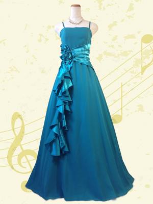 幻想的グリーン♪ロングドレス 黒 演奏会 ラミューズドレス通販