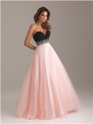 メリハリラインのベアトップドレス ピンク 0213/ 演奏会 ラミューズドレス通販