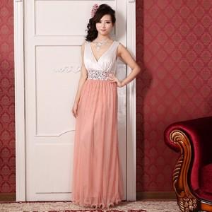 星の光〜 ピンク ロングドレス 0307 / 演奏会 ラミューズドレス通販