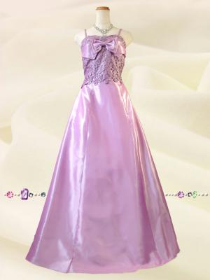 【Lサイズ】シアーピンク 姫ロングドレス 0305/ 演奏会 ラミューズドレス通販