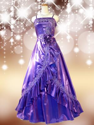 【LLサイズ】 パープルのクイーンロングドレス/紫 ラミューズドレス通販