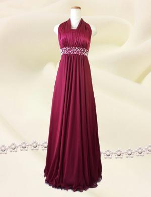 3wayのシンプルロングドレス 赤/ 0216 / 演奏会 ラミューズドレス通販