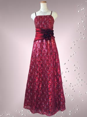 オペラ・レッドのロングドレス/ 演奏会 ラミューズドレス通販