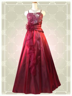 Belleワインレッド ロングドレス 0310 演奏会 ラミューズドレス通販