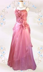 優美な薔薇のロングドレス ピンク / 演奏会 ラミューズドレス通販