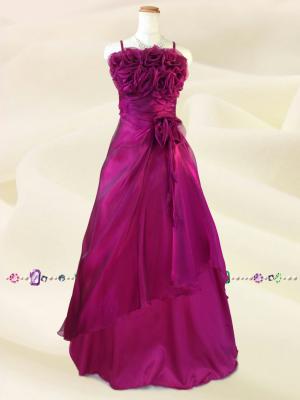 ラズベリーピンク薔薇のカラードレス / 演奏会 ラミューズドレス通販