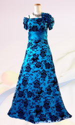 ドラマティックロングドレス 袖付き・グリーン0209 / 演奏会 ラミューズドレス通販