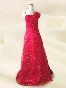 プティフルール ロングドレス 赤 結婚式・演奏会 ラミューズドレス通販
