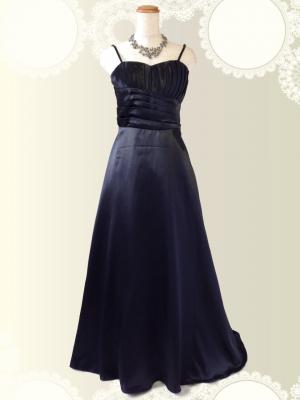 シンプルブラックのロングドレス 黒/演奏会 ラミューズドレス通販