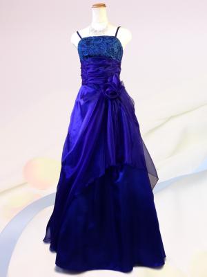 ふんわりブルーのロングドレス♪演奏会 ラミューズドレス通販