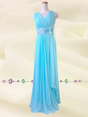 水の色彩〜ブルー ロングドレス 075 / 演奏会 ラミューズドレス通販