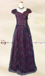 【L・3L】ヴィンテージゴールド ロングドレス072/ 演奏会 ラミューズドレス通販
