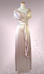 高級感☆オフショルダーのロングドレス / ネイビー 演奏会 ラミューズドレス通販