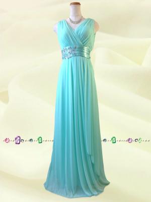 水の色彩〜 グリーン ロングドレス 075 / 演奏会 ラミューズドレス通販