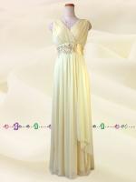 水の色彩〜 イエロー ロングドレス 075 / 演奏会 ラミューズドレス通販
