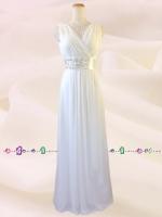 水の色彩〜 ホワイト ロングドレス 075 / 演奏会 ラミューズドレス通販