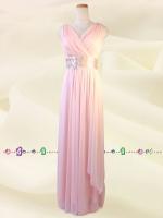 水の色彩〜 ピンク ロングドレス 075 / 演奏会 ラミューズドレス通販