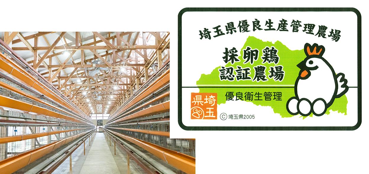 埼玉県の優良生産管理農場「採卵鶏認証農場」