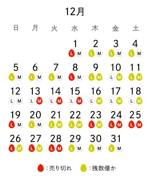 売り切れカレンダー