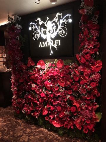クラブ店内装飾(赤花)
