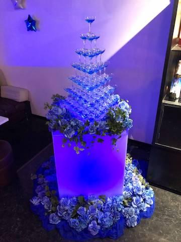 クラブ店内装飾 シャンパンタワー