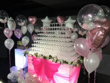 クラブ店内装飾シャンパンタワー