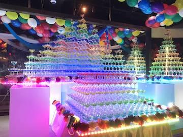 シャンパンタワーカラフル