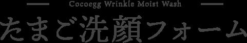 Cocoegg Wrinkle Cleansing Gel たまご洗顔フォーム