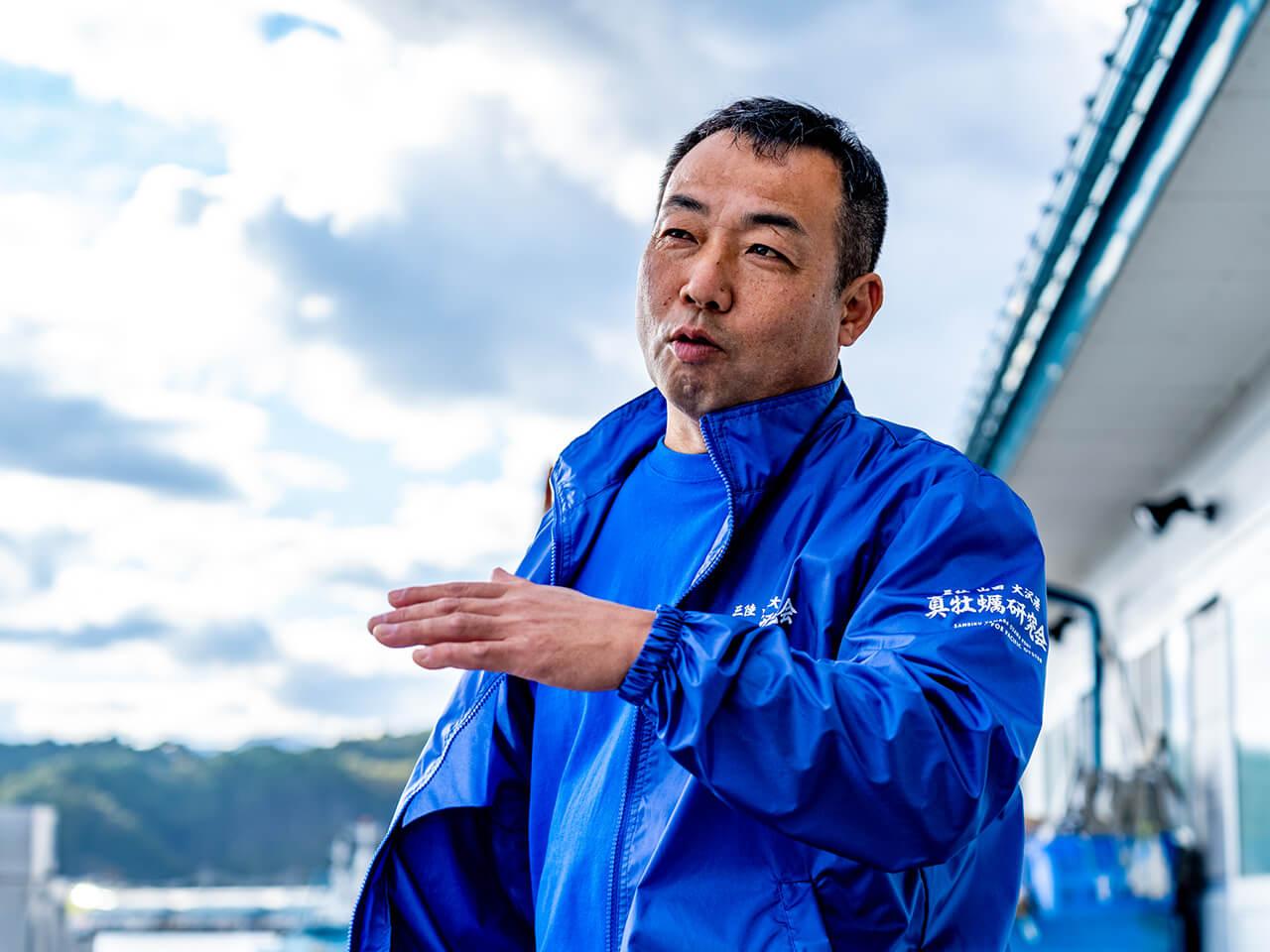 真牡蠣研究会代表 漁吉丸 福士貴広