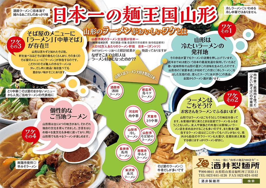 日本一の麺王国山形