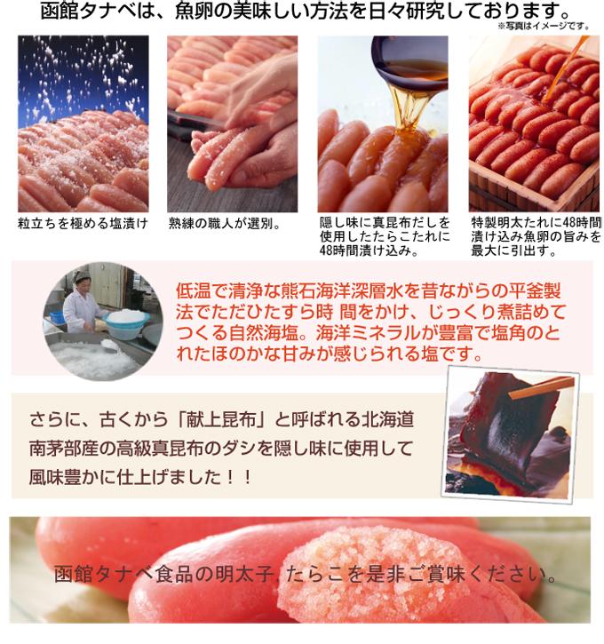 函館タナベは、魚卵の美味しい方法を日々研究しております。