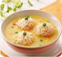 ?しゅうまいのコーンスープ仕立て
