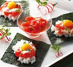 ?石狩漬けの手巻き寿司