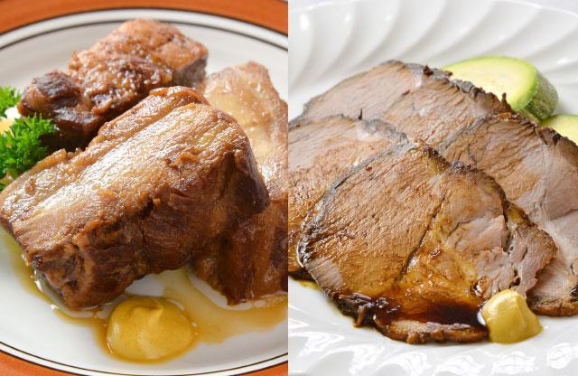 山形のやっこい豚角煮と自家製焼き豚