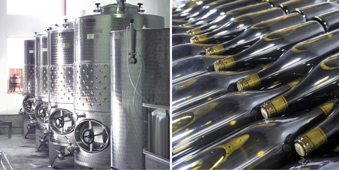 OSA WINERY醸造所、ビン詰め風景
