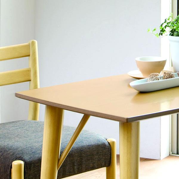 ナチュラル・天板:高さ60cmテーブル&チェア 低めのダイニングとして 天然木素材と細身のデザイン エスコート