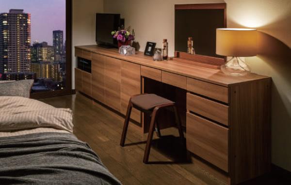 贅沢を楽しめるベッドルームの収納スペース:3Dすきまくん 組合せ自由カウンター 幅・奥行・高さを1cm単位でオーダー