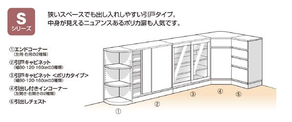 Sシリーズ:カウンター下すきまくん CSD カウンター下収納/高さ77〜103cmまで1cm単位オーダー
